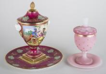 Sevres Porcelain Urn with Undertray