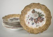 Set of Six English Pottery Plates