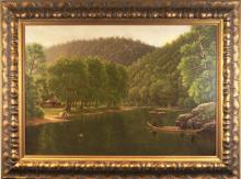 Southern Antique oil painting