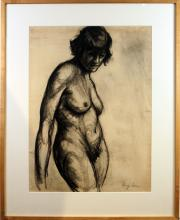 Figure Study in Charcoal