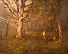 Arthur Davis Chopping Wood