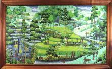 Village in Bali Signed