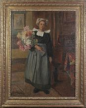 Benjamin James Bowen Girl with Flowers