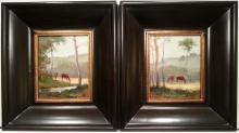 Pair of Equestrian Paintings