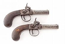 Pair of Irish Sidehammer Percussion Pistols
