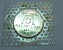 1971-D GERMAN 5 MARK SILVER PROOF COIN