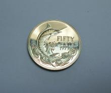 1973 BAHAMA ISLAND 50 CENT