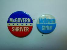 McGOVERN & SHRIVER CAMPAIGN PIN LOT