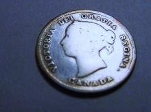 1891 CANADA 5 CENTS SILVER