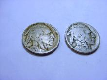 1917 & 1927-D BUFFALO NICKELS