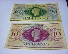 FRENCH COLONIES BANKNOTE LOT