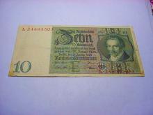 1929 GERMAN 10 MARK BANKNOTE
