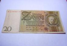 1929 GERMAN 20 MARK BANKNOTE