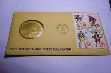 1975 BRONZE MEDAL COVER