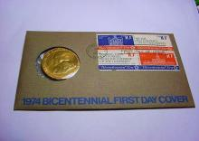 1974 BRONZE MEDAL COVER