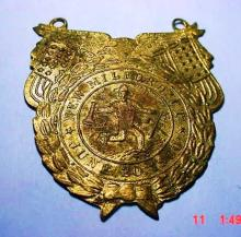 1900 NEW MILFORD, CT. FIREMEN'S MEDAL