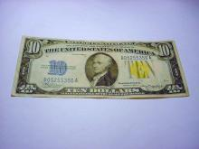 1934 A $10 NORTH AFRICA BANKNOTE