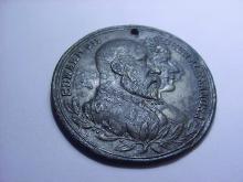 1902 KING EDWARD VII PEWTER CORONATION MEDAL