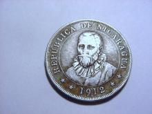 1912 NICARAGUA 50 CENTAVOS