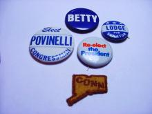 POLITICAL BUTTON LOT