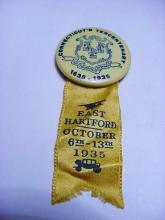 1935 CT. TERCENTENARY BUTTON
