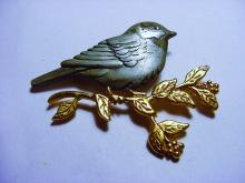 SHIELDS PEWTER BIRD PIN