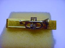 VINTAGE GOLD FILLED TRUMPET TIE BAR