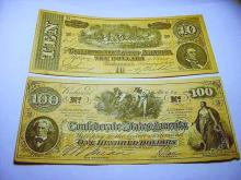 [2] CONFEDERATE BANKNOTE COPIES