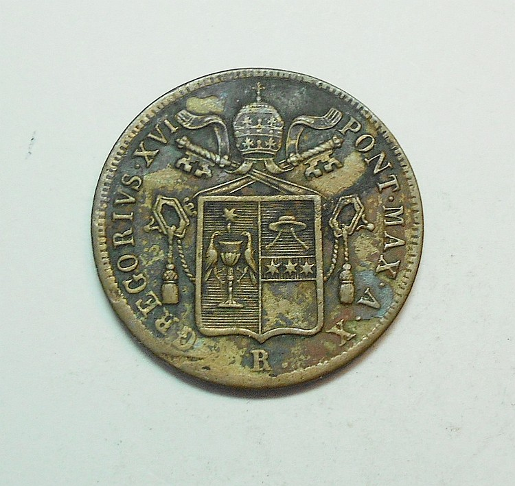 1840 PAPAL STATES BAIOCCO