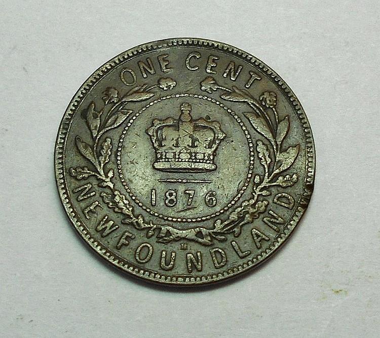 1876 NEWFOUNDLAND ONE CENT
