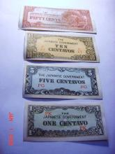 [4] WWII JAPANESE OCCUPATION BANKNOTES