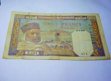 1940 ALGERIA 100 FRANCS BANKNOTE