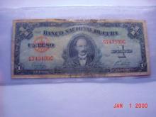 1949 CUBA 1 PESO BANKNOTE