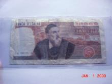 1975 ITALY 20,000 LIRE BANKNOTE