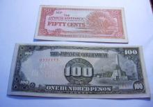 WWII JAPANESE BANKNOTE LOT