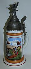 Regimental Beer Stein Lithophane  Germany H: 11