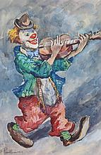 Fred PAILHES (1902-1991)  Clown, 1964