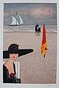 Ramon DILLEY (1932)   La plage  Lithographie en couleurs sur papier.   Signé en bas à droite. Justifié EA en bas à gauche.  76 x 55 cm
