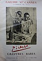 Pablo PICASSO (1881-1973)  Affiche lithographiée pour l'exposition