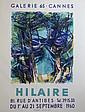 Camille HILAIRE (1916-2004)   Lot de deux affiches lithographiées pour la Galerie 65 à Cannes