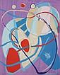 André LANSKOY (1902-1976)  Composition abstraite  Lithographie en couleurs sur papier.   Signé en bas à droite. Numéroté 73/125 en bas à gauche.  60,5 x 49 cm