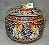 Thai porcelain covered pot. H:8.5