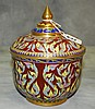 Thai porcelain covered jar. H:8.25