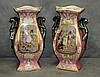 Pair 19th c Old Paris porcelain hand painted and gilt
