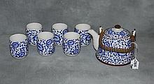 Chinese 7 piece porcelain tea set