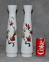 Pair Chinese porcelain vases with calligraphy