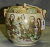 Meji Period Satsuma porcelain covered jar. H:6