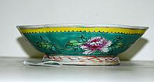 Chinese famille verte porcelain bowl marked china on