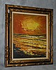 Morris Katz (1931-2010) oil on board of sunset seascape
