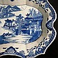 Chinese export porcelain Nan-king blue and white plate